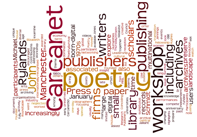 Carcanet approaching 50: Poetry Publishers, Archives and the Digital Revolution